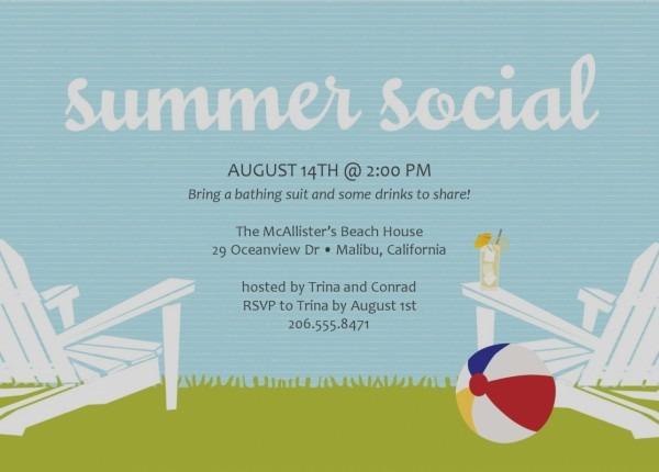 Summer Bbq Invitation Wording
