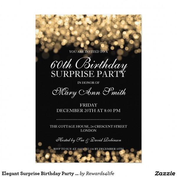Surprise Sixty Superb 60th Birthday Invitation Templates