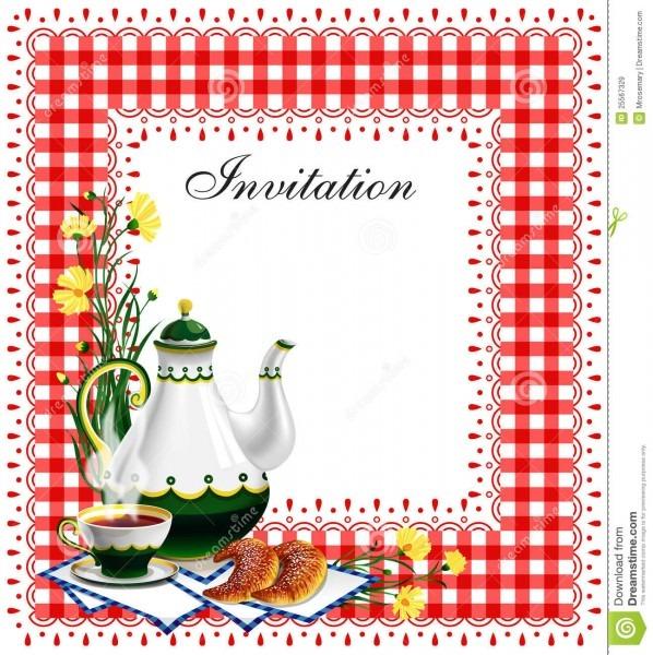 Tea Party Invitation Stock Vector  Illustration Of Date