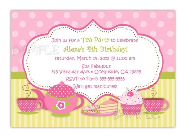 Tea Party Invite Ideas