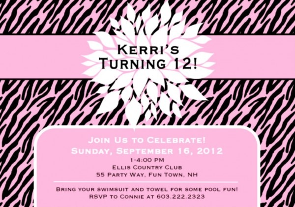 Teenage Party Invitations As An Inspiration To Make Elegant Party