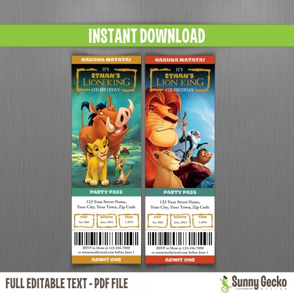 The Lion King Invitations From Sunnygeckodesign And Get Inspired