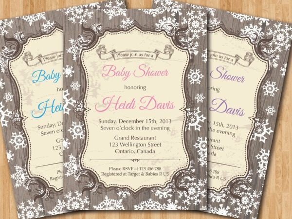Winter Baby Shower Invitation Winter Invitation Baby Shower Gifts