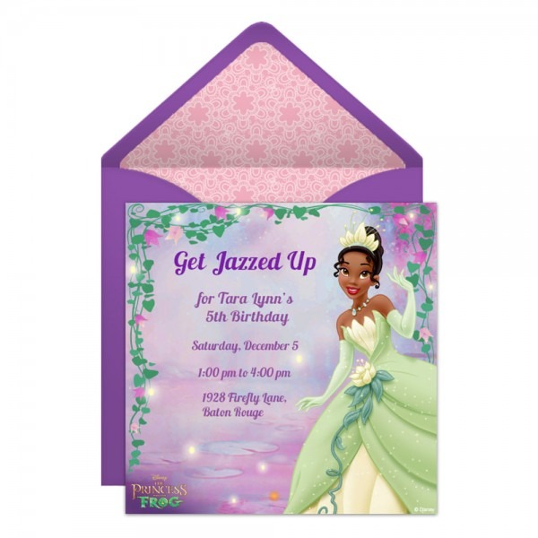 The Princess And The Frog Party Online Premium Invitation
