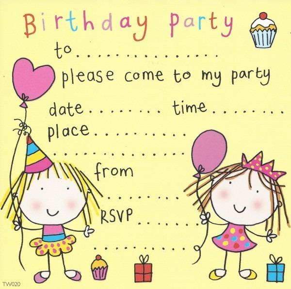 Kids Bday Invitations