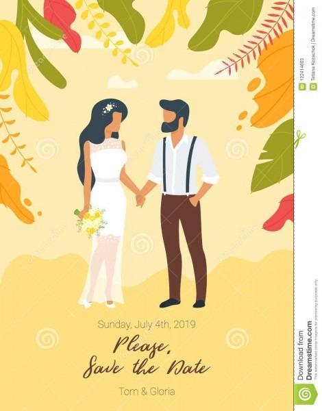 Wedding Day Invitation Stock Vector  Illustration Of Adult