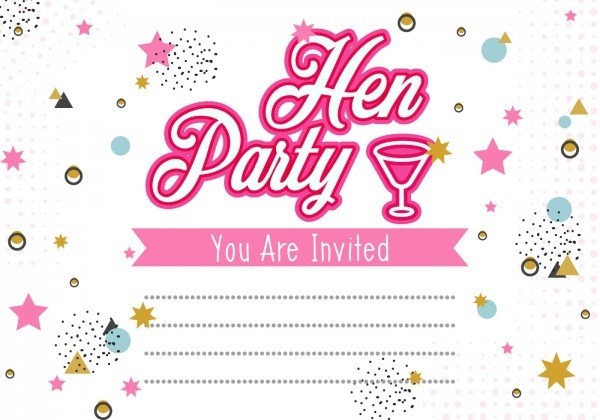 Hen Party Invitation Template Illustration