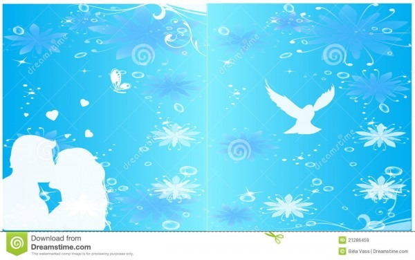 Vector Wedding Invitation Background Stock Vector