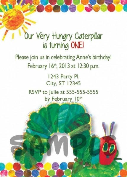 Very Hungry Caterpillar Birthday Invitation Wording Luxury Very