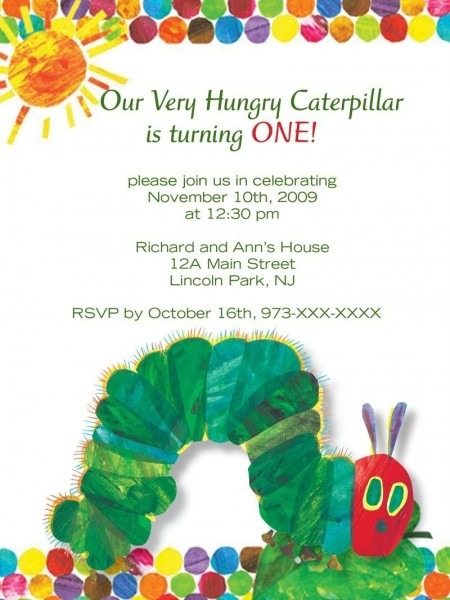 Very Hungry Caterpillar Invitation Free Printable Great Free Very