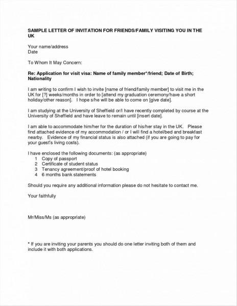 Visa Sponsorship Letter Sample Tourist Invitation China Uk Sponsor