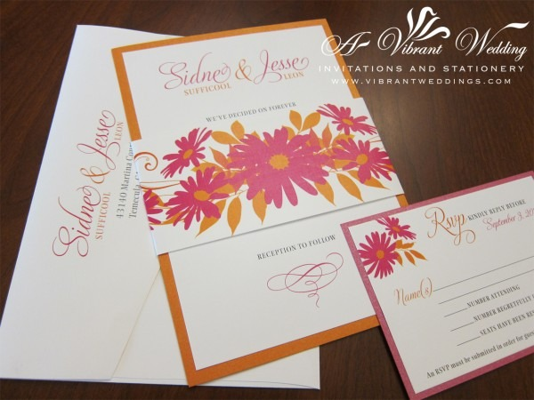 Orange And Pink Wedding Invitation – A Vibrant Wedding Invitations