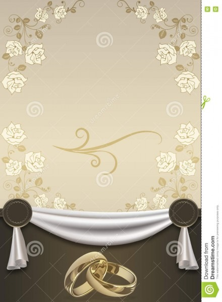 Wedding Invitation Card Design  Stock Illustration