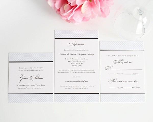 Elegance Monogram Wedding Invitations
