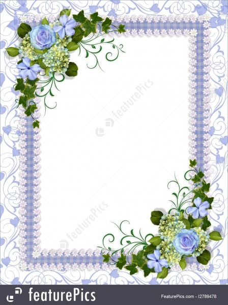 Templates  Wedding Invitation Blue Floral