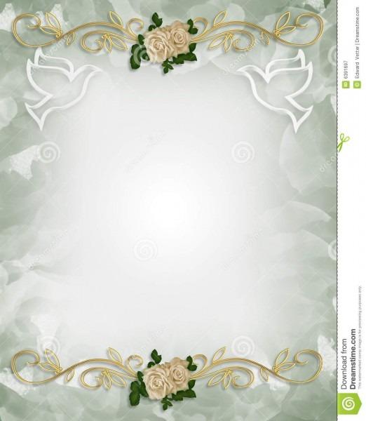 Wedding Invitation Template Roses Stock Illustration