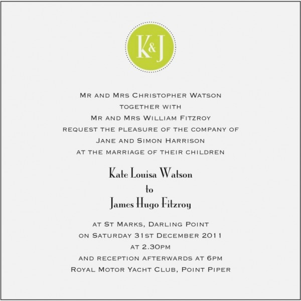 Wedding Invitation Wording Examples Unique Attractive Wedding