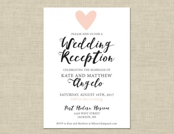Informal Wedding Reception Invitations Wording: Wedding Invitations Casual