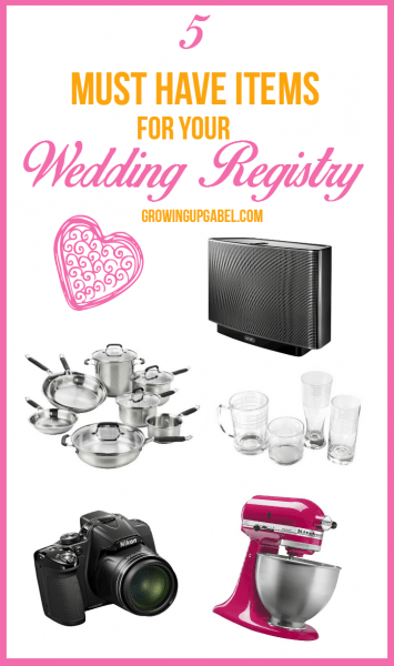 5 Must Have Items For A Wedding Registry