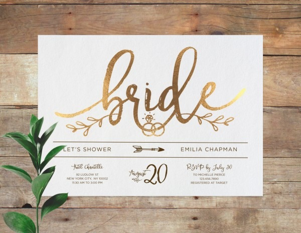 Wedding Accessories Mint And Gold Bridal Shower Invitations