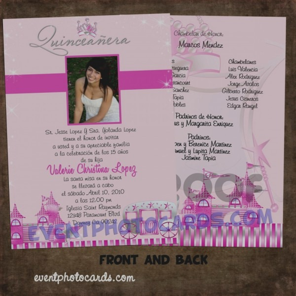Wonderful Quinceaneras Invitations Cards Awesome Sample