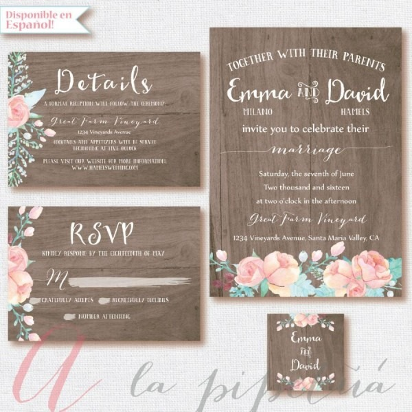 Wood Wedding Suit, Wedding Invitation  Wedding Rsvp Card, Wedding