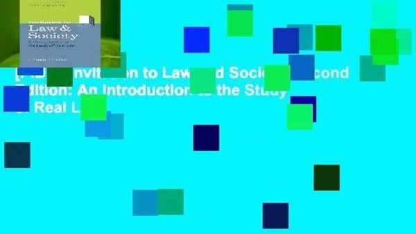 P D F] Invitation To Law And Society, Second Edition  An
