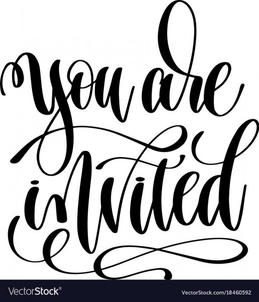 You Are Invited Hand Lettering Event Invitation Vector Image
