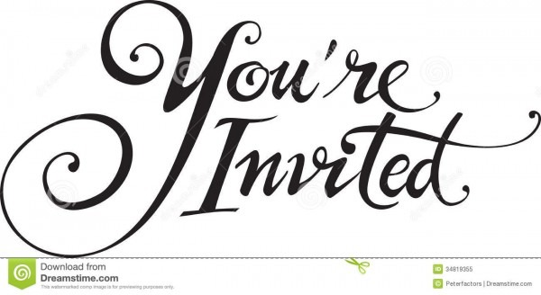 Youre Invited Stock Vector  Illustration Of Invited, White