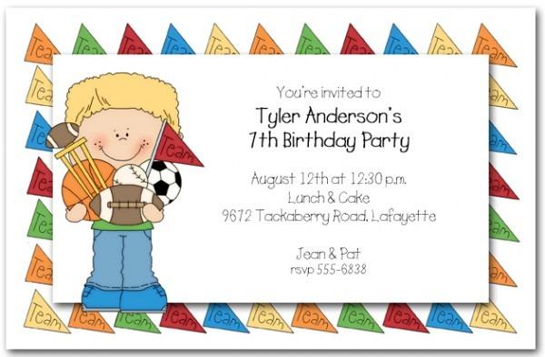Kids Birthday Invite
