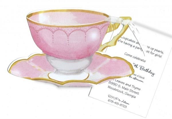 Pink Tea Cup Invitation
