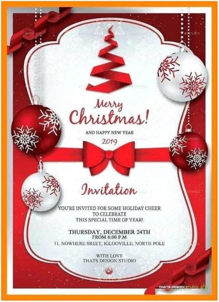 002 Free Christmas Invitation Templates Microsoft Word Template