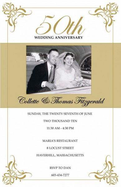 005 50th Anniversary Invitation Template Ideas Th Decorations