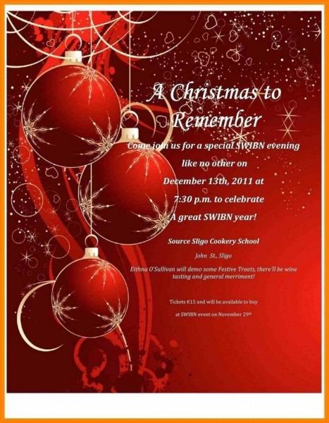 005 Free Christmas Invitation Templates Word Template Ideas