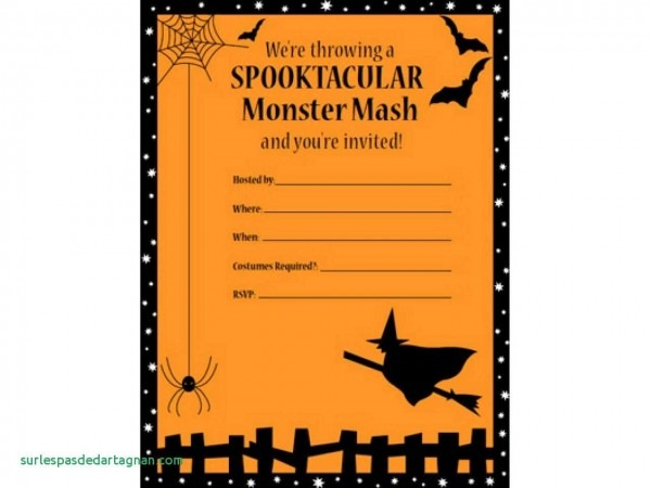 007 Free Halloween Invitation Templates Marvelous With Template