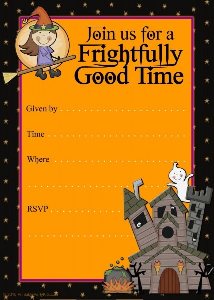 008 Free Halloween Invites Templates Template Ideas ~ Ulyssesroom