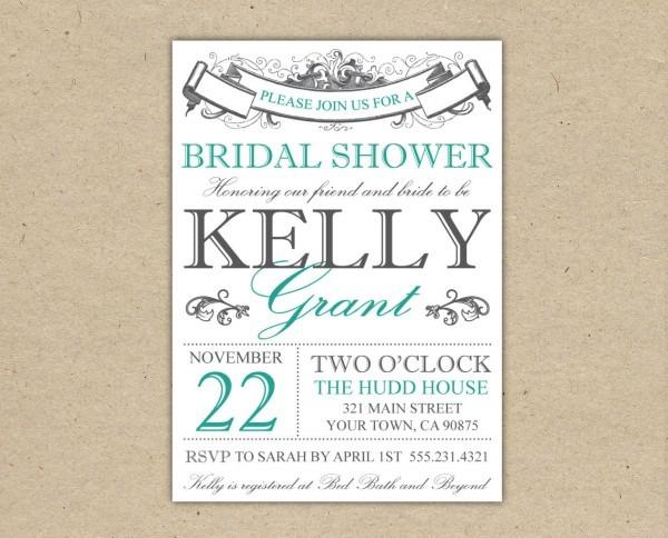 008 Free Printable Bridal Shower Invitations Templates Best