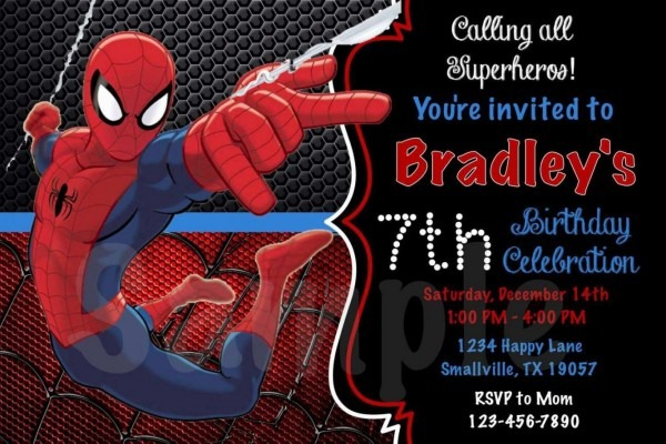 Best 2018! New Tips Of Free Personalized Spiderman Birthday