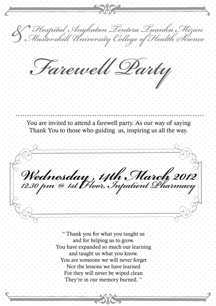 011 Farewell Invitation Template Free Ideas Send Off Party Wording
