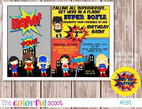 011 Free Superhero Invitation Template Birthday Zaxa Tk ~ Ulyssesroom