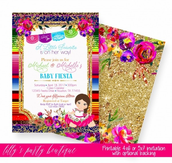 006 Mexican Themed Invitation Template Fiesta Templates Free Best