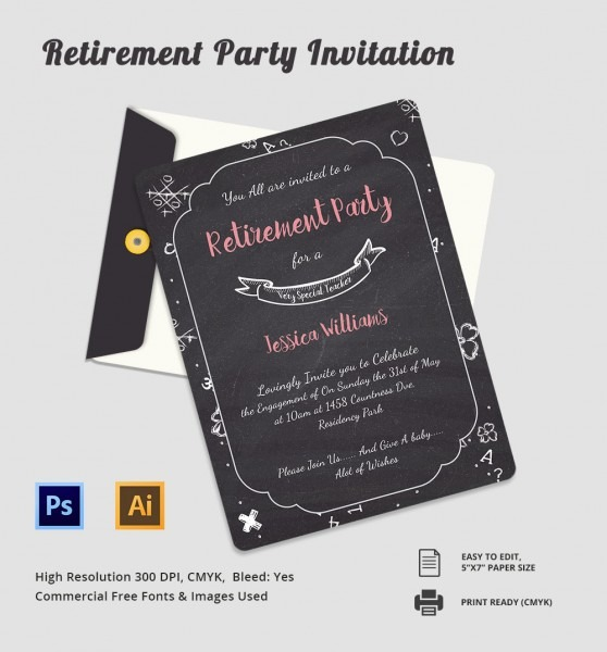014 Retirement Invitation Templates Free Sample Example Format