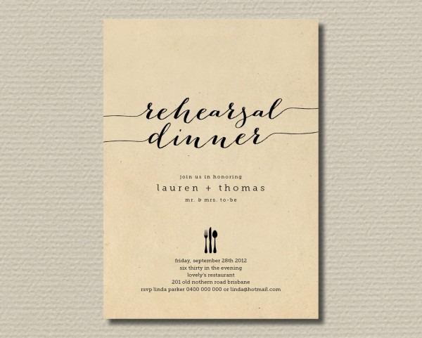 014 Template Ideas Free Printable Rehearsal Dinner Invitation