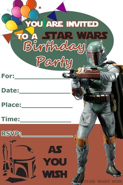 006 Star Wars Birthday Invite Template Ideas ~ Ulyssesroom