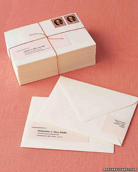 wedding invitation mailing labels