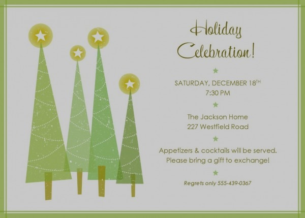 017 Template Ideas Free Holiday Invitation Elegant Party Word