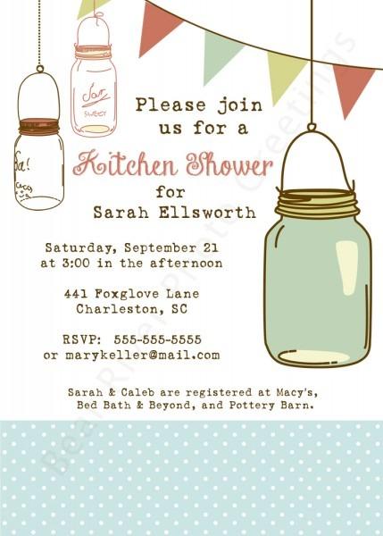 020 Free Mason Jar Bridal Shower Invitation Template Inspirational