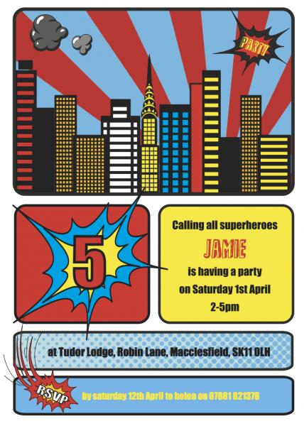 020 Template Ideas Superhero Party Invitation Sample Letter