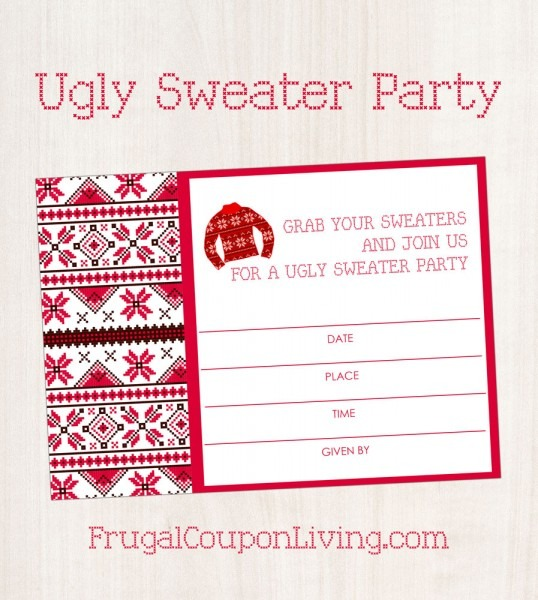 021 Cozy Ugly Christmas Sweater Partys Free Templates As