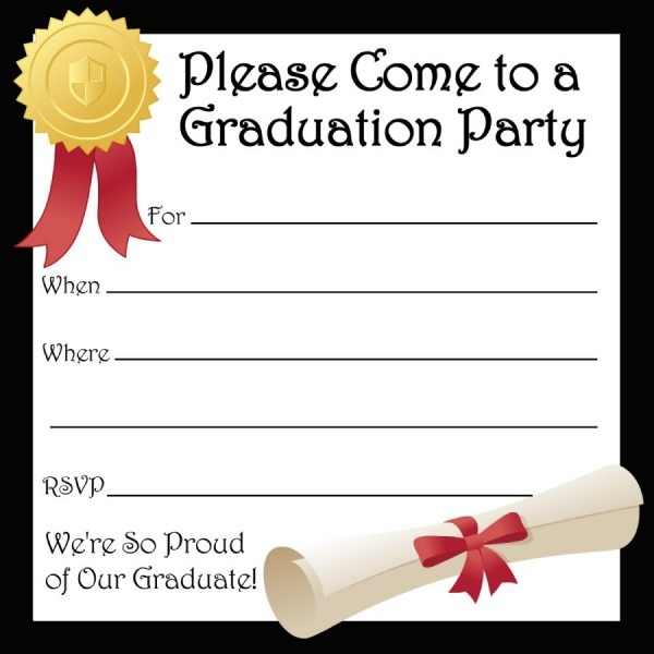 021 Template Ideas Graduation Invitation Templates Free ~ Ulyssesroom